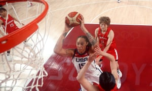Brittney Griner works in the paint.