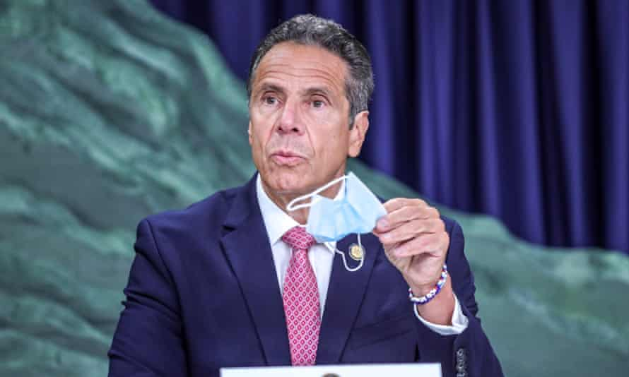 New York Governor Andrew Cuomo press conference, New York, USA - 29 Jun 2020Mandatory Credit: Photo by William Volcov/REX/Shutterstock (10694946q) New York Governor Andrew Cuomo attends journalists during a news conference on the new coronavirus (COVID-19)on Manhattan Island in New York City New York Governor Andrew Cuomo press conference, New York, USA - 29 Jun 2020