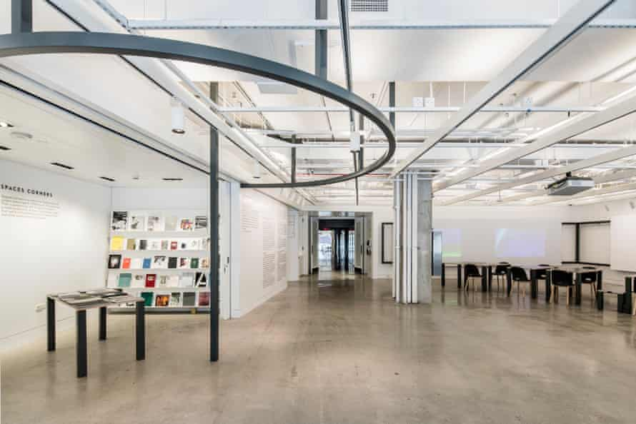 An interior view of the new building in New York's Bowery.