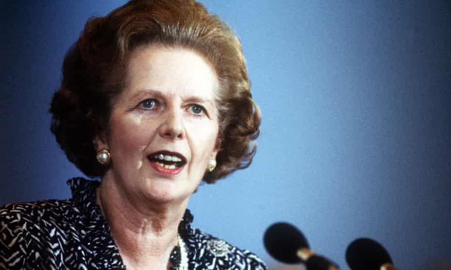 Margaret Thatcher in 1986