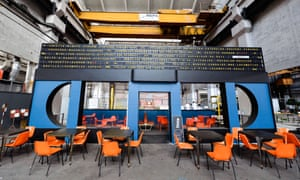 The new Grand Train, inside an old SNCF depot, has several restaurants and a bar.