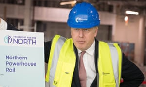 Boris Johnson at Manchester airport