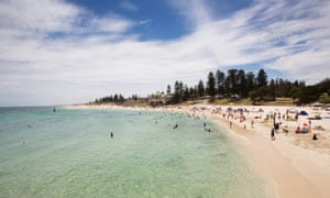 A sunny Summer's day on the popular Cottesloe beach between Perth and Fremantle in Western Australia.