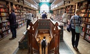 Daunt Book shop in Marylebone, London. 10/5/17