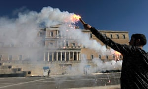 Greece is expected to be brought to a halt when employees in both the public and private sector down tools.