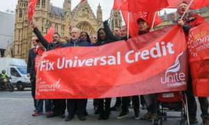 Labour leader Jeremy Corbyn at a rally against universal credit in 2017.