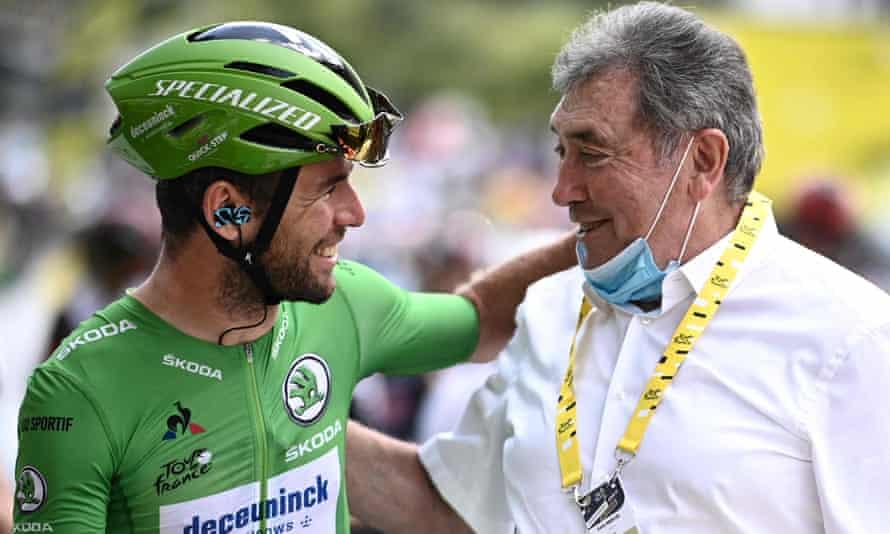 Mark Cavendish with Eddy Merckx