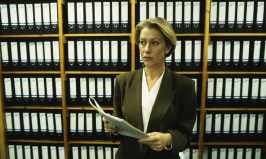Helen Mirren as DCI Jane Tennison in Prime Suspect, 1991.