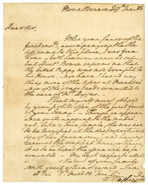 George Washington's letter about a donkey