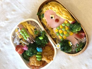 An Amabie-shaped bento box by recipe book creator Kei Okuda