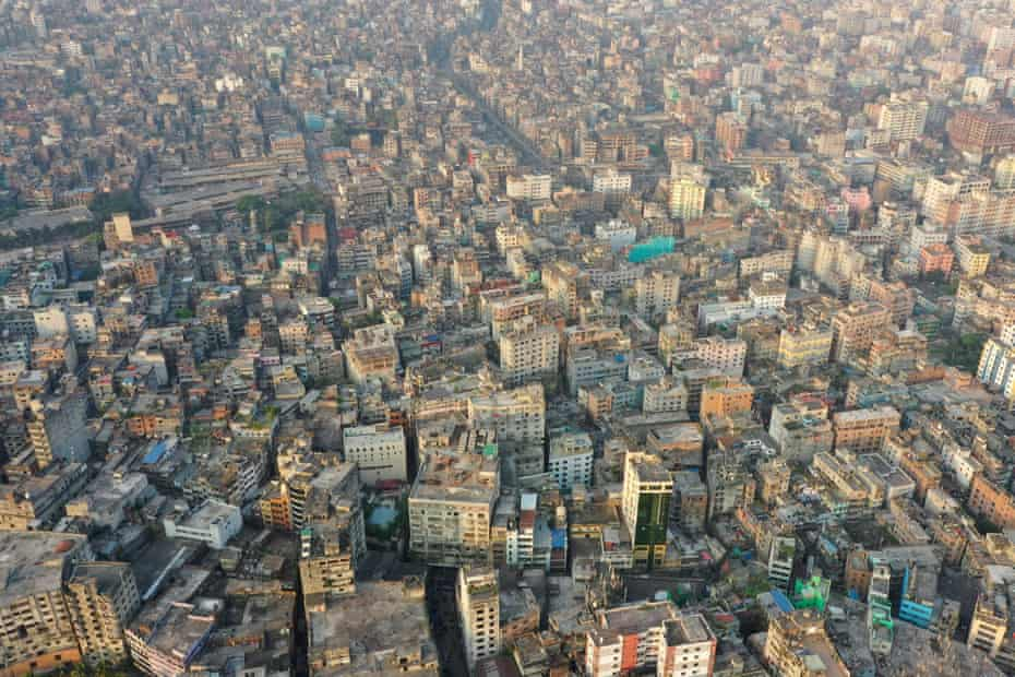 Aerial view of Old Dhaka