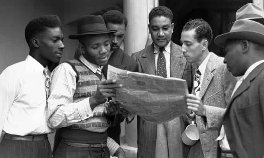 Jamaican immigrants arrive at Tilbury in 1948.