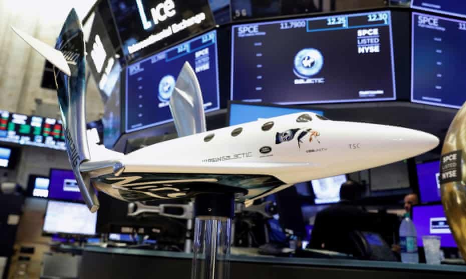 Model of Virgin Galactic rocket plane