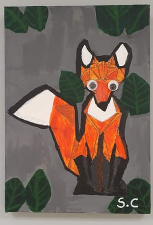 Painting of a fox.