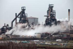 Port Talbot Steel Works.