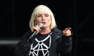Debbie Harry of Blondie performs at Glastonbury festival in 2014.