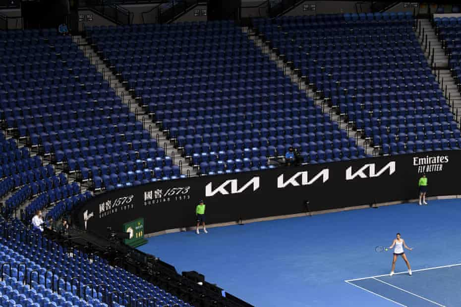 Empty stands at the Australian Open