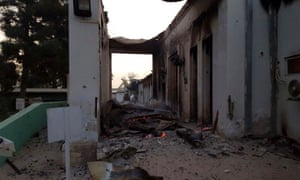 The burned Doctors Without Borders hospital is seen after explosions in Kunduz.