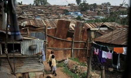 Children play near their home in Kibera.