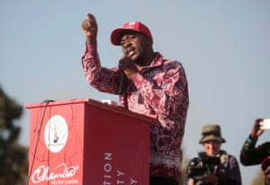 Movement For Democratic Change (MDC) Alliance leader Nelson Chamisa.