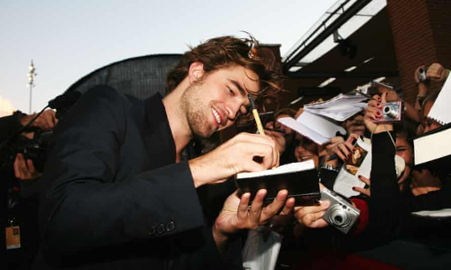 Centre stage: at the Rome Film Festival meeting fans of Twilight.