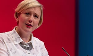 Stella Creasy giving a speech to Labour conference
