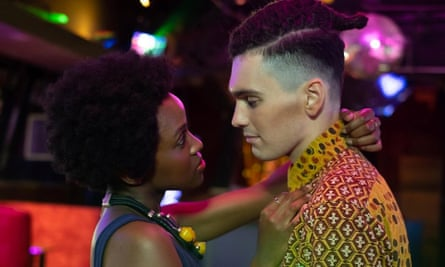 Jack Rowan as Callum and Masali Baduza as Sephy in Noughts and Crosses.