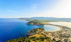 Voidikilia beach from Paleokastro fortress