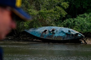 A derelict submarine