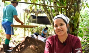 "The archeologist Márjorie Nascimento. Re: Amazon archeology story. When they recently unearthed nine pre-Columbian funerary urns in Tauary – a tiny community in Brazil's Amazon rainforest – the immediate reaction of archaeologists Eduardo Kazuo and Márjorie Lima was, they admit, ""a mix of pleasure and desperation."""