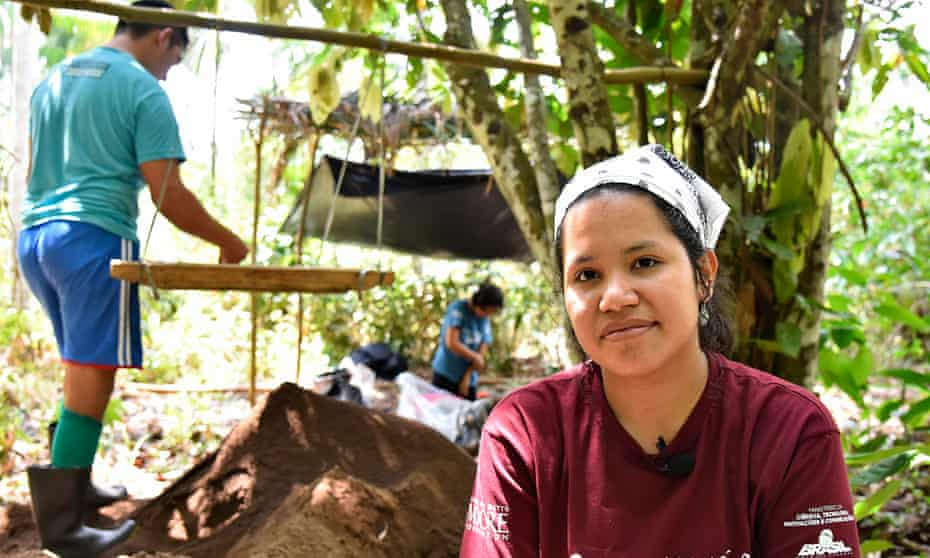 """The archeologist Márjorie Nascimento. Re: Amazon archeology story. When they recently unearthed nine pre-Columbian funerary urns in Tauary – a tiny community in Brazil's Amazon rainforest – the immediate reaction of archaeologists Eduardo Kazuo and Márjorie Lima was, they admit, """"a mix of pleasure and desperation."""""""