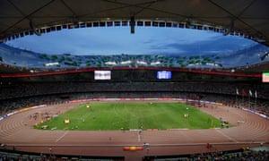 The National Stadium, or Bird's Nest, in Beijing.