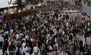 Waterloo station at rush-hour. Quality of life issues, such as congestion, housing and crime, are said to be driving the exodus.
