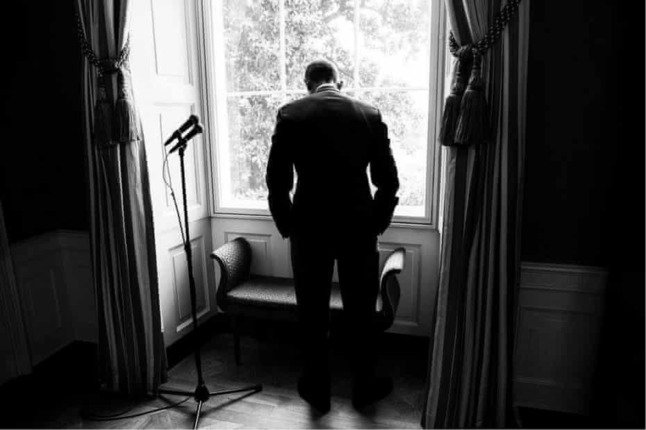 It's nearly time to say goodbye, as Obama waits pensively to make a public appearance during his last months in office.