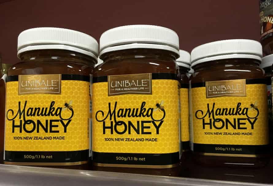 Manuka honey products at a supermarket in Beijing, China