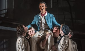 Roderick Williams as Billy Budd in Opera North's October 2016 production.