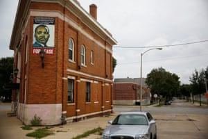 A disused building is seen near the Sherman Park neighborhood in Milwaukee.