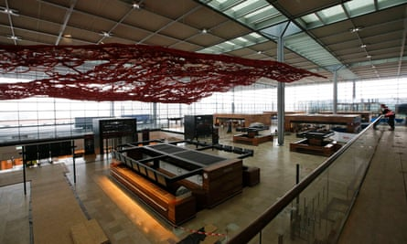 Check-in desks at Berlin's Brandenburg airport, which was meant to open in 2012 but is still unfinished