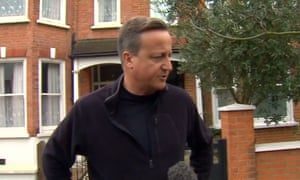 David Cameron sporting his new, self-shaming, short back and sides.