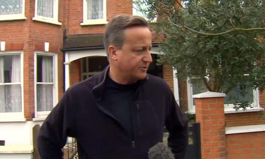 David Cameron sporting his new, self-shaming, short back and sides.