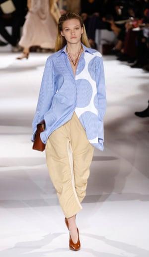 A model presents a Stella McCartney creation