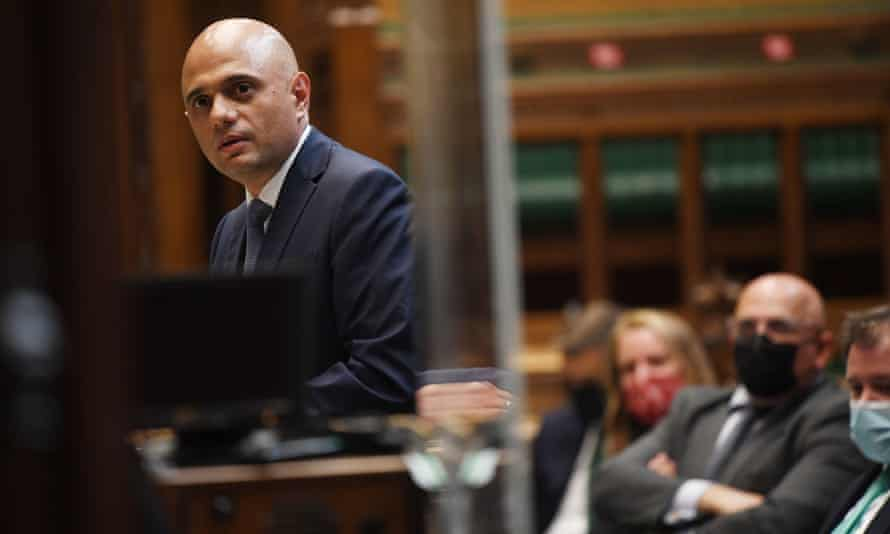 The new health secretary, Sajid Javid, speaking about his coronavirus plans in the House of Commons, 28 June 2021