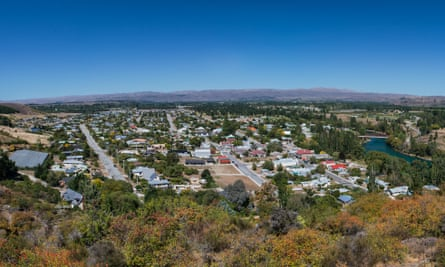 The town of Clyde in Central Otago, New Zealand