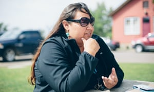 Anti-pipeline activist Angeline Cheek says Keystone XL doesn't just threaten the tribes' drinking water, but tribal members as well, due to the lawlessness man camps planned nearby would bring to the reservation.