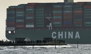 China's Shanghai container port is the world's busiest – it will start demanding cleaner fuels for ships in coastal regions from 2019.