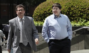 Matthew Keys (right) pictured with his attorney in 2013. Keys called the decision 'very heavy-handed prosecution'.