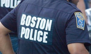 Boston Police: an officer on duty.
