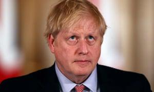 Boris Johnson at his press conference.