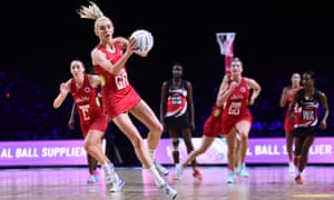 Helen Housby in action during England's win over Trinidad and Tobago