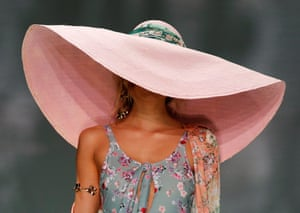 A model presents a creation by We Are Kindred during Australian Dashion Week in Sydney